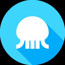 クラゲのフラットアイコン 素材牧場 無料 商用利用可のアイコン素材サイト