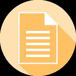 書類のフラットアイコン 素材牧場 無料 商用利用可のアイコン素材サイト