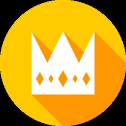 王冠のフラットアイコン 素材牧場 無料 商用利用可のアイコン素材サイト