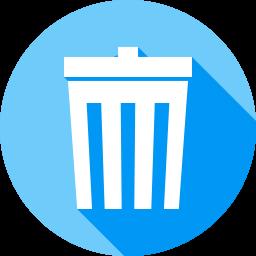 ゴミ箱のフラットアイコン 素材牧場 無料 商用利用可のアイコン素材サイト