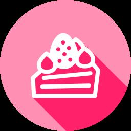 ケーキのフラットアイコン 素材牧場 無料 商用利用可のアイコン素材サイト